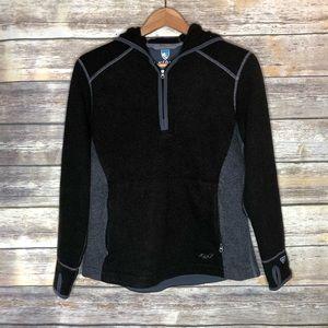 Kuhl alfpaca pullover fleece jacket hood women's M